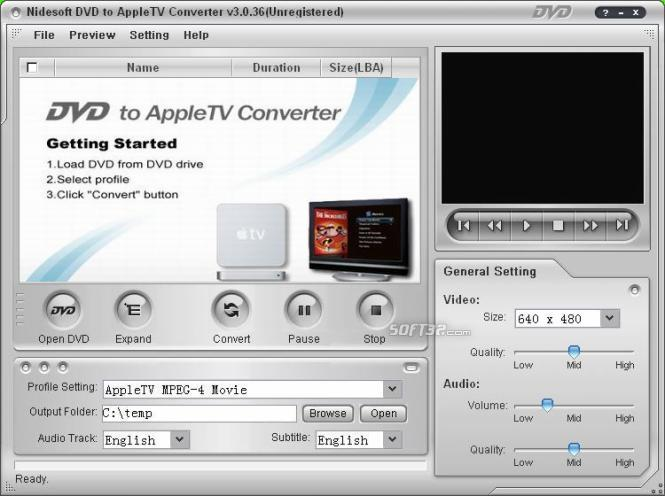 Nidesoft DVD to Apple TV Converter Screenshot 3