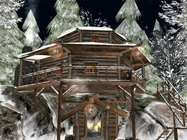 Winter Gold Mine 3D Screensaver Screenshot
