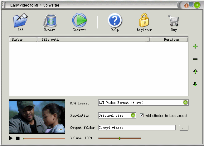 Easy Video to MP4 Converter Screenshot