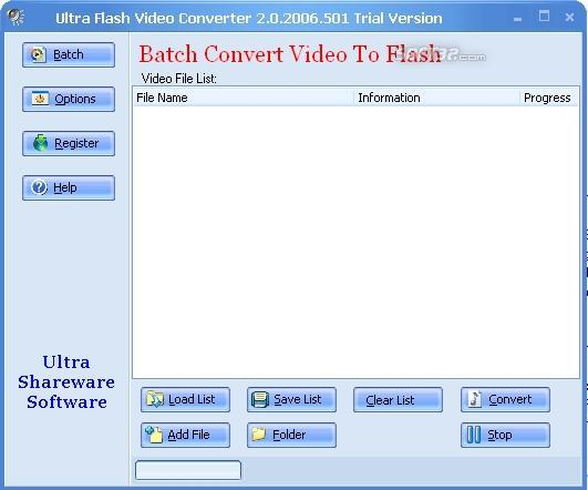Ultra Video To Flash Converter Component Screenshot
