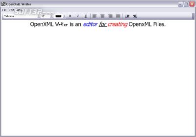 OpenXML Writer Screenshot 3