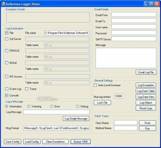 Kellerman .NET Logger Screenshot 3