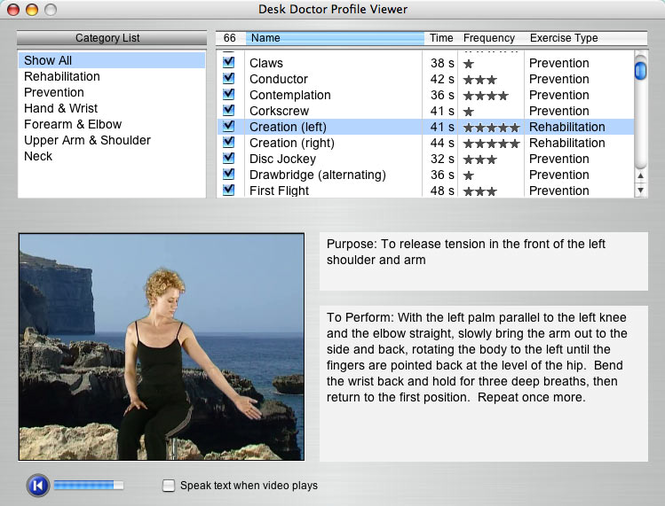 Desk Doctor Low Resolution OSX Screenshot