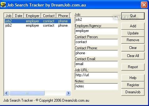 DreamJob.com.au Job Search Tracker Screenshot 3