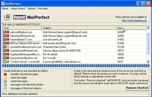 HS MailPerfect Screenshot