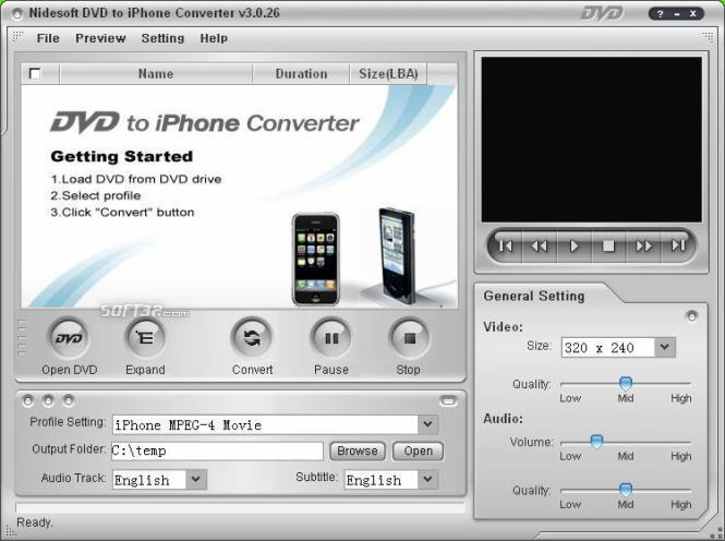 Nidesoft DVD to iPhone Converter Screenshot 3