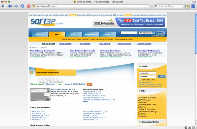OmniWeb Screenshot
