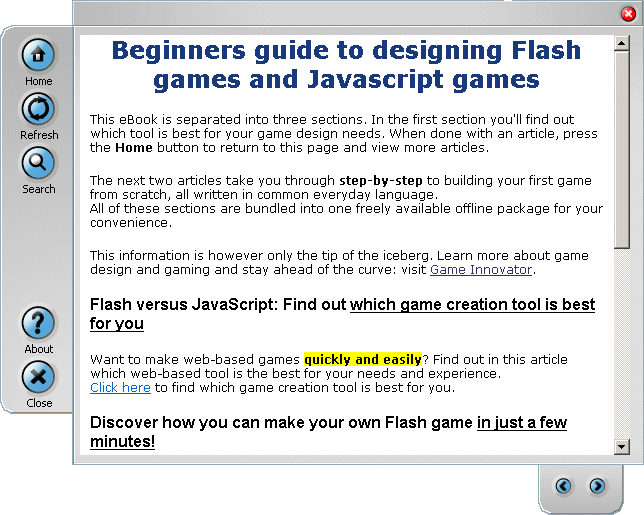 Begginers guide to making Flash/JS games Screenshot