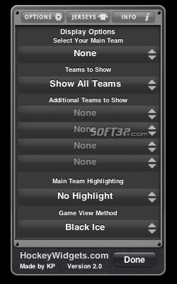 NHL Widget Screenshot 2