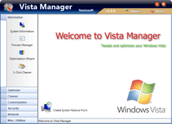 Vista Manager Screenshot 1