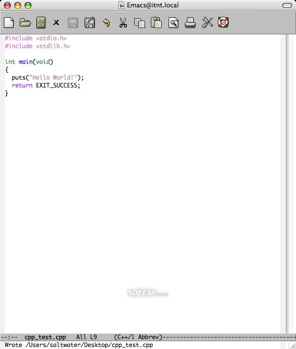 Carbon Emacs Screenshot 2