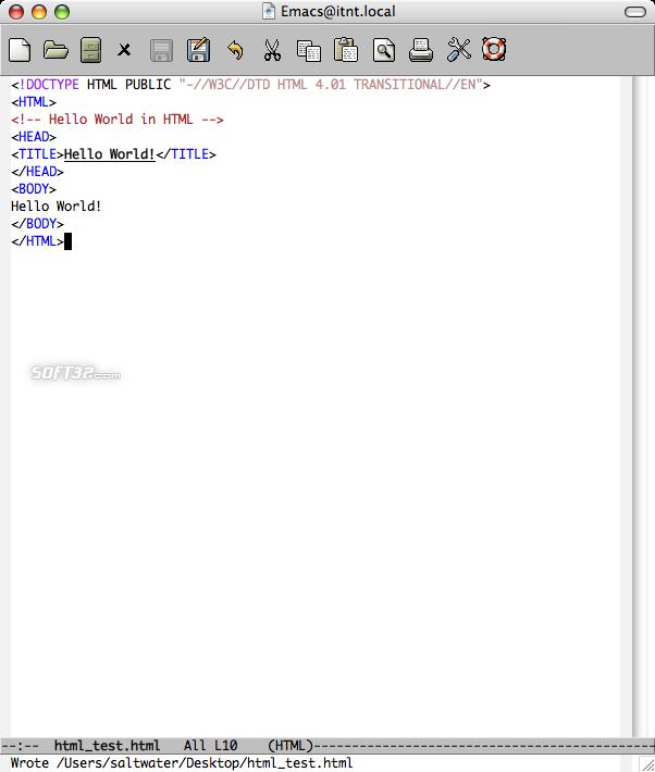Carbon Emacs Screenshot 3