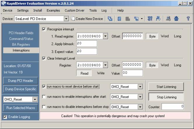 RapidDriver Screenshot