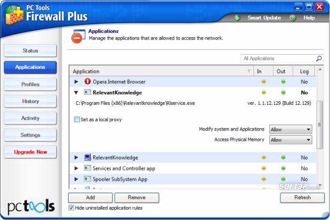 PC Tools Firewall Plus Screenshot 4