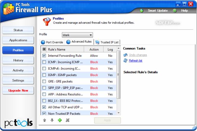 PC Tools Firewall Plus Screenshot 5