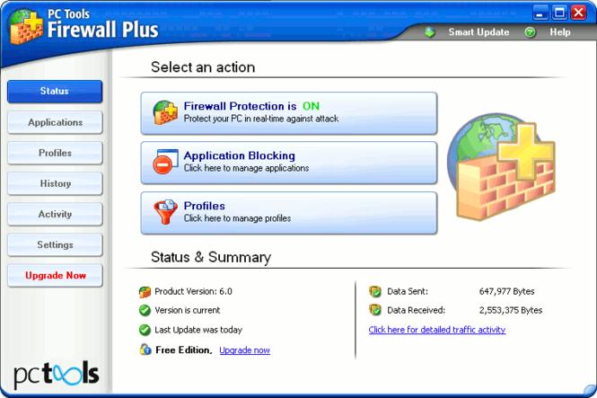 PC Tools Firewall Plus Screenshot 1