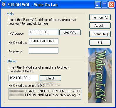 WakeUp on LAN Screenshot 2