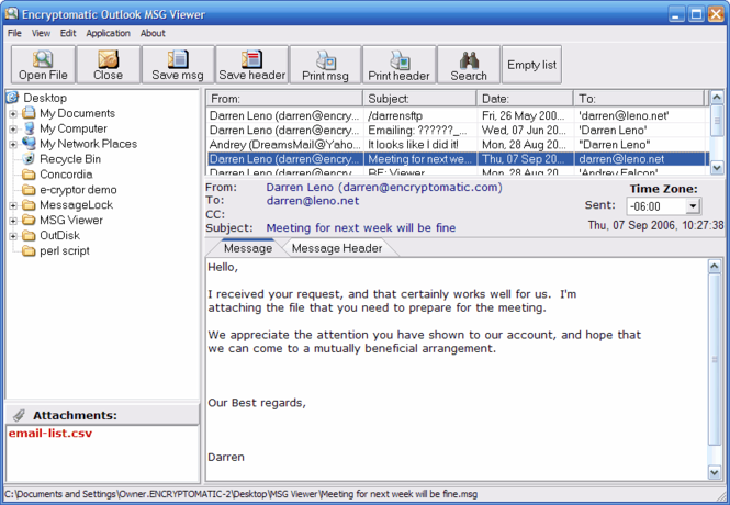 MSG Viewer Pro - EML and MSG  Viewer Screenshot