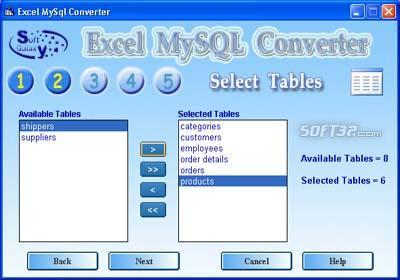 Excel MySQL Conversion software Screenshot 3