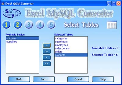 Excel MySQL Conversion software Screenshot