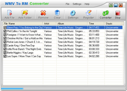 WMV To RM Converter Screenshot
