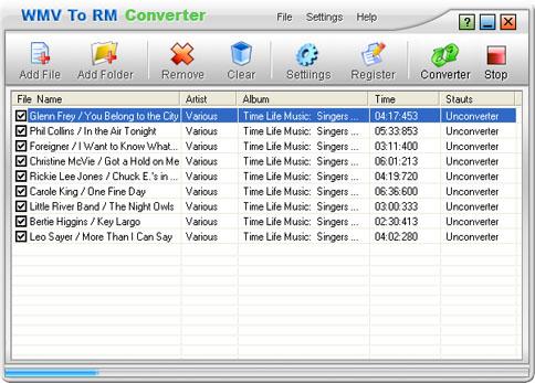 WMV To RM Converter Screenshot 1