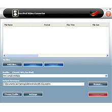 Fox iPod Video Converter Screenshot 1