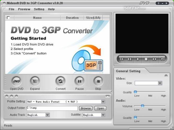 Nidesoft DVD to 3GP Converter Screenshot 3