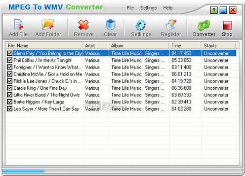 MPEG To WMV Converter Screenshot 2