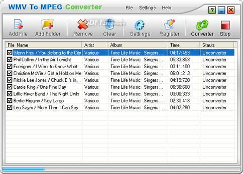 WMV To MPEG Converter Screenshot 2
