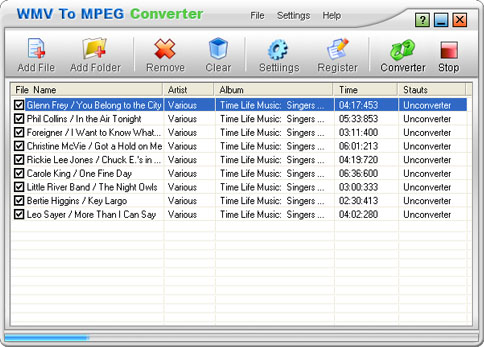 WMV To MPEG Converter Screenshot