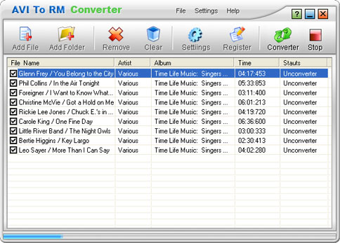 AVI To RM Converter Screenshot 1