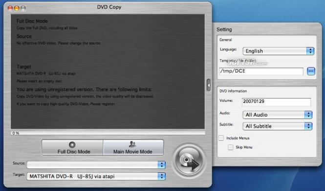 4Media DVD Copy for Mac Screenshot 2