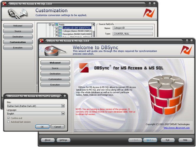 DBSync for MS Access & MSSQL Screenshot