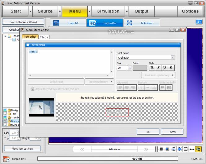 DivX Author Screenshot 4