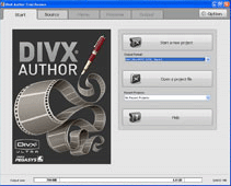 DivX Author Screenshot