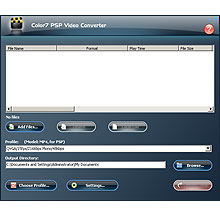 Color7 PSP Video Converter Screenshot 1