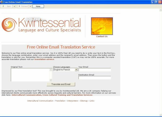 Free Online Email Translation Screenshot 1