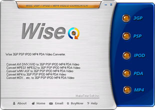 Wise IPOD 3GP PSP Video Converter Screenshot