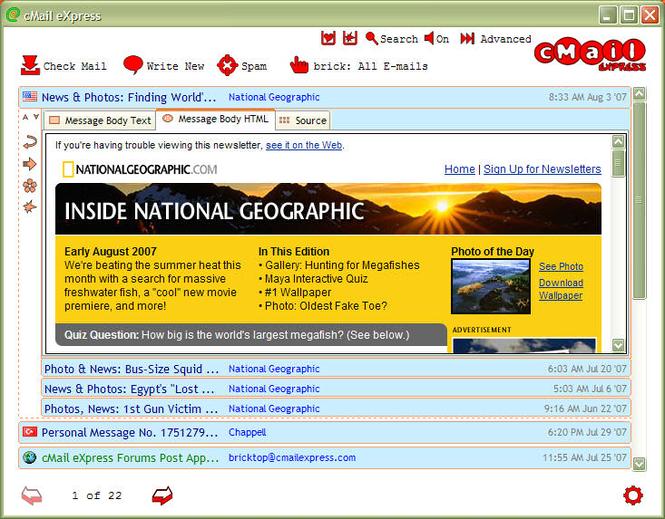 cMail eXpress Screenshot