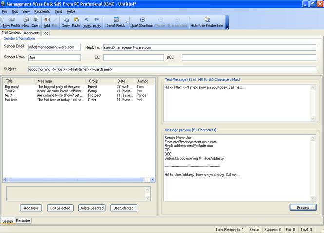 Bulk SMS From PC Starter Edition Screenshot 1