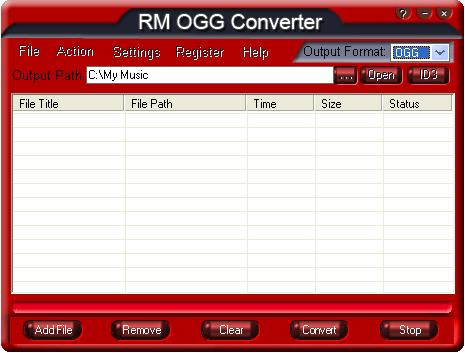 RM OGG Converter Screenshot