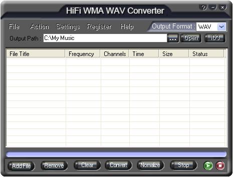 HiFi WMA WAV Converter Screenshot