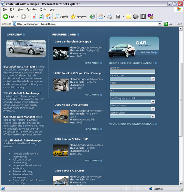 iStateSoft Auto Manager Screenshot