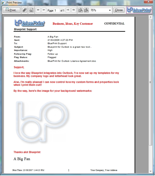 Blueprint for Outlook Professional Screenshot 1