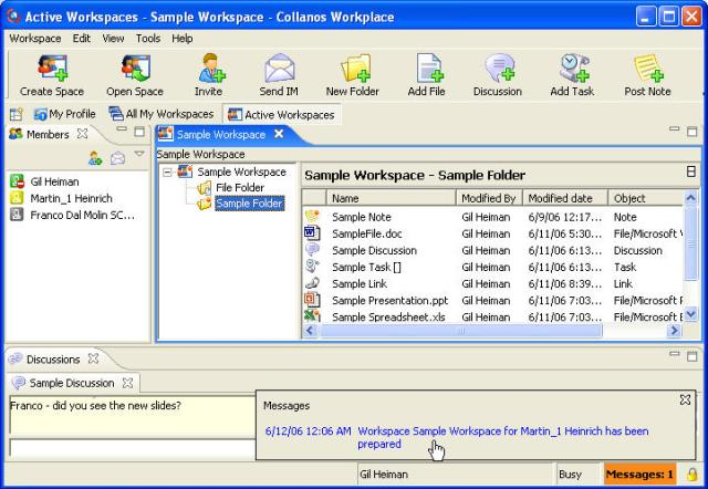 Collanos Workplace Windows Screenshot