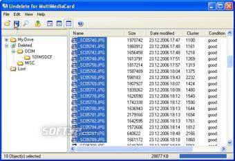 Undelete MultiMediaCard Screenshot 2