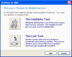 Undelete MultiMediaCard Screenshot
