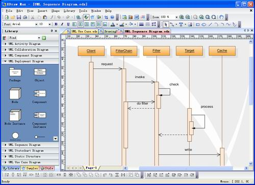 Edraw UML Diagram Screenshot 1