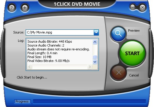1CLICK DVD MOVIE Screenshot 1